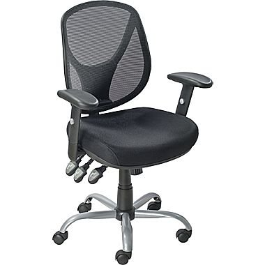 staples office chairs desk chair cover cheap mesh find acadia ergonomic mid back with arms black
