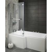 2016 Universal Over Bath Glass Shower Screen,L Shaped ...