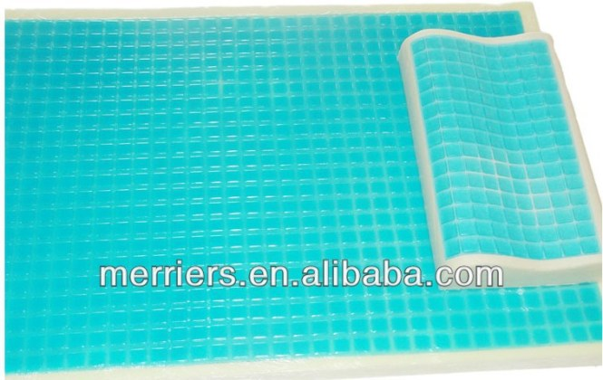 Thermo Gel Memory Foam Mattress Topper Cooling Pad