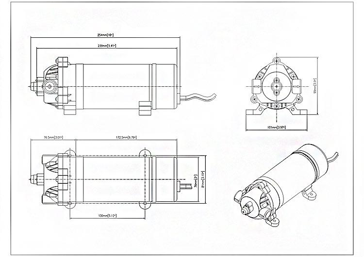 Hot Sales Singflo Dp-160 12v Dc Atv Sprayer Pump/mini High