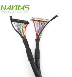 20 pin fis to hrs df13 40pin connector twisted pair lvds cable wiring harness [ 1000 x 1000 Pixel ]