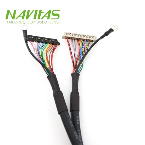 small resolution of 20 pin fis to hrs df13 40pin connector twisted pair lvds cable wiring harness