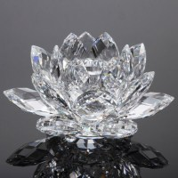 100mm Lotus Crystal Candle Holder - Buy Home Goods Crystal ...