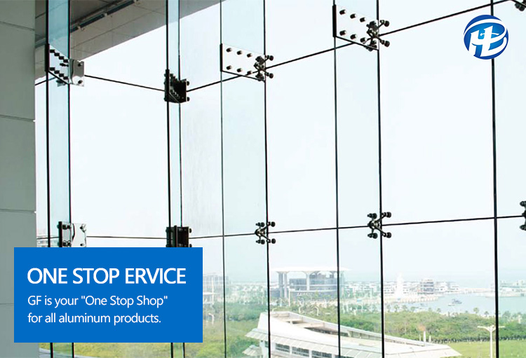 Structural Glazing Curtain Wall Spider System Frameless