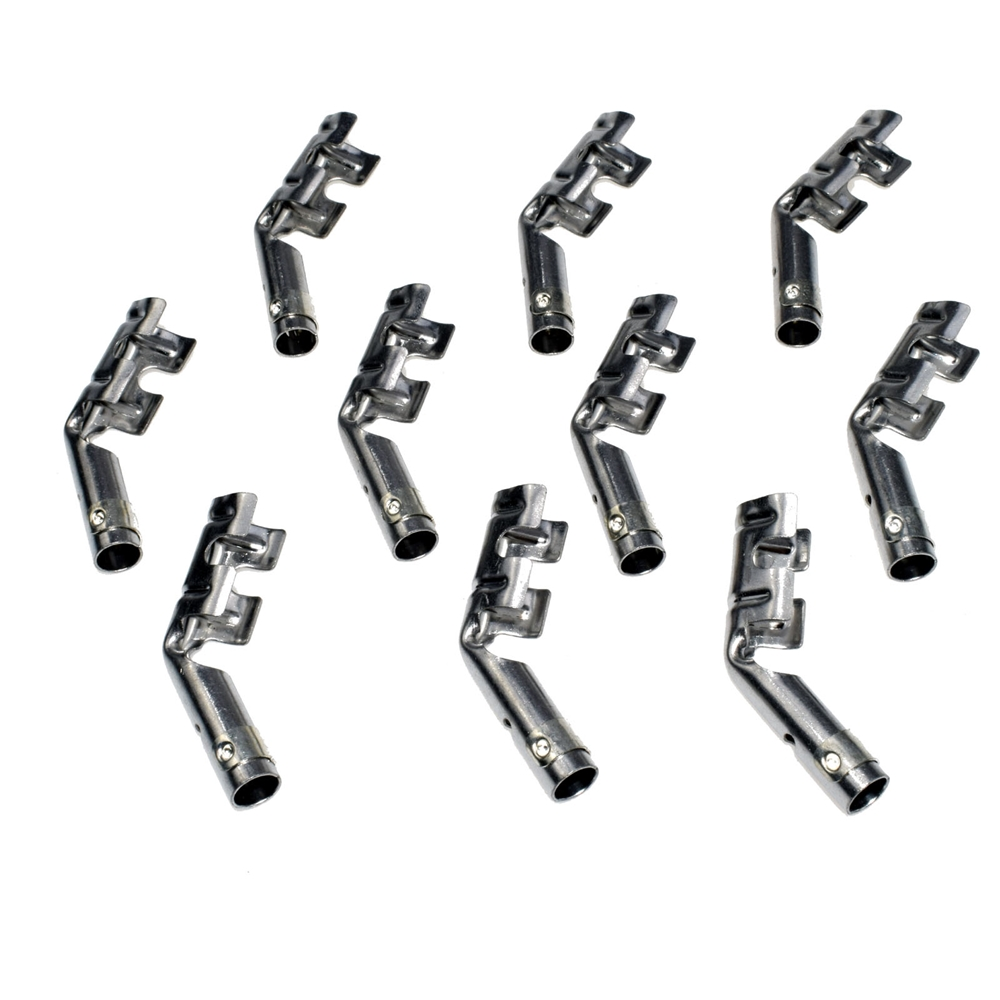 10pcs Set Of Dual Band Spark Plug Wire Connector Terminals