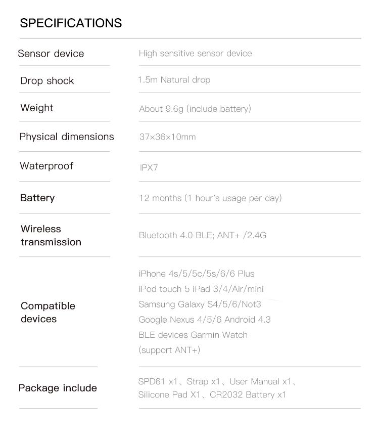 iGPSPORT Fitness RPM Speed Sensor for Bike Computer Phone