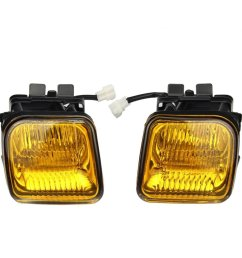get quotations fog lights dzt1968 for 1996 1998 honda civic ek jdm yellow fog lights front bumper [ 1021 x 1021 Pixel ]