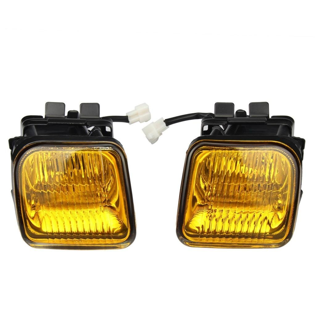 hight resolution of get quotations fog lights dzt1968 for 1996 1998 honda civic ek jdm yellow fog lights front bumper