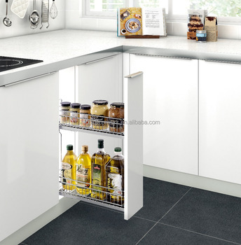 kitchen cabinet unit ikea upper cabinets hot selling base pull out spice basket buy