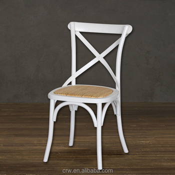 white x back chair double rocking adirondack plans rattan dining rental wedding cross