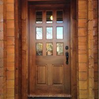 Wood Front Doors With Glass Lowes