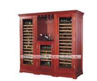 Oak Wooden Wine Cooler Cabinet 110v