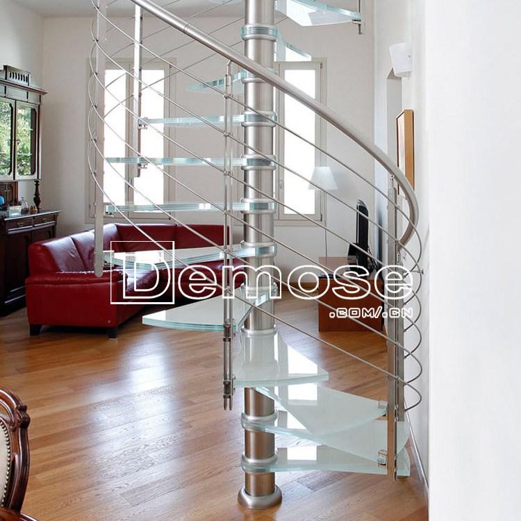 Indoor Modern Wood Stairs Design Spiral Stairs Used Wrought Iron | Wrought Iron And Wood Stair Railing | Decorative | Iron Rail | Stairway | Wood Cap | Hand