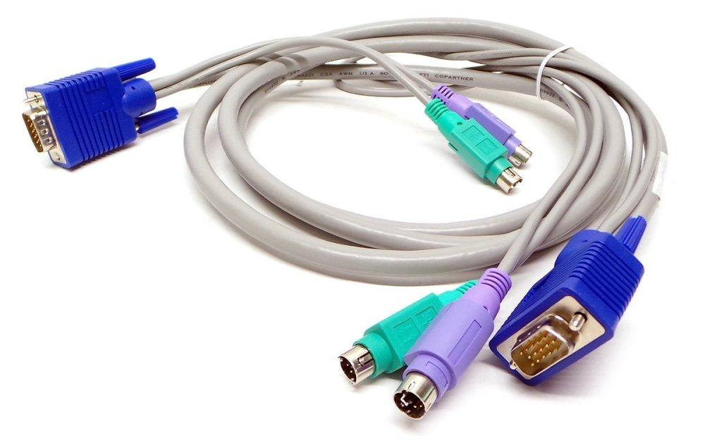 medium resolution of genuine j5471 dell 7ft kvm analog vga ps 2 keyboard mouse server cable kit compatible
