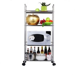 Wire Kitchen Cart Unfinished Cabinets Home Depot Wholesale 3 Tiers Chrome Metal Trolley Pantry Rack And Utility Buy Product On Alibaba
