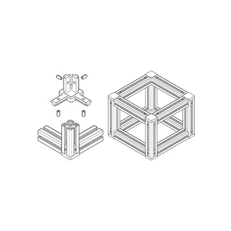 Wholesale 4040 Series 3 Way End Corner Bracket Accessories