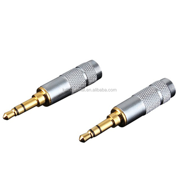 Oem/odm Welcomed Copper Gold Plated 3.5mm Male Stereo