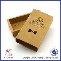 Custom Kraft Paper Bow Tie Gift Boxes With Bow Tie Cutout ...