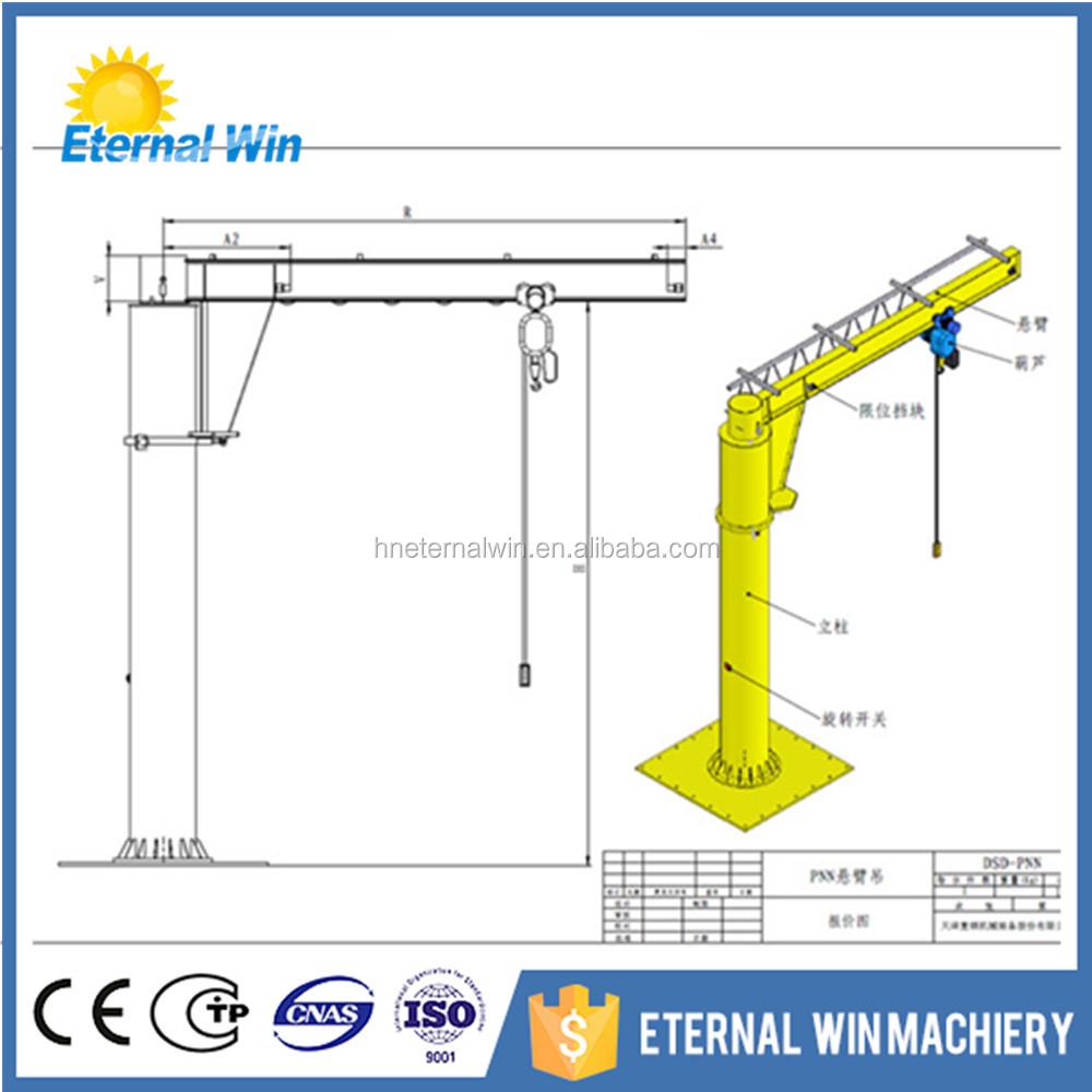 hight resolution of henan eternalwin brand manual control type jib crane 360 degree light duty jib crane price