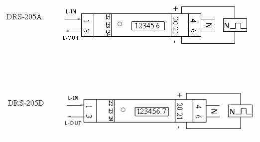 Drs-205a 5(45)a 230v Single Phase Kwh Watt Hour Din-rail