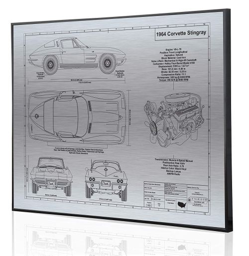 small resolution of get quotations corvette c2 l76 engine blueprint artwork laser marked personalized the perfect corvette gifts