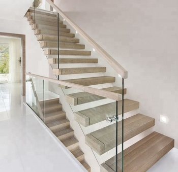 Wooden Staircase Design With Glass | Wood And Glass Staircase | Stair Case | Simple | Spiral | Small | Light Oak Glass