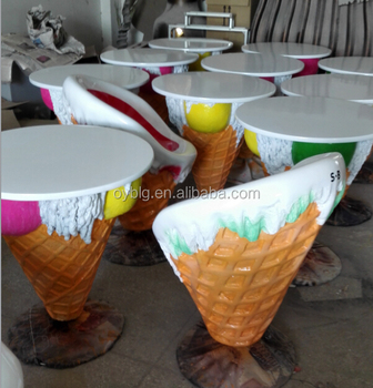 ice cream table and chairs revolving chair features shop theme furniture