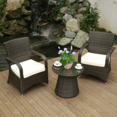 Rattan Garden Chairs And Table American Salon Chair Poly Furniture Cane Dining Set Coffee Shop Tables