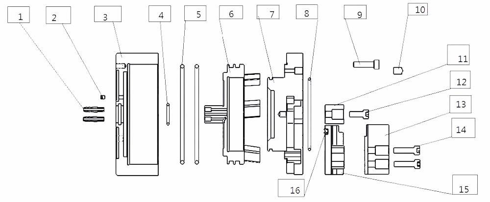 Mini Small Row Tool 4 Jaw Turret Air Collets Chuck Cnc