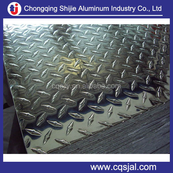 5052 H34 Thin Decorative Aluminum Diamond Plate Sheets For