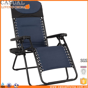 padded zero gravity chair cover rentals brantford reclining with head pillow and drink holder