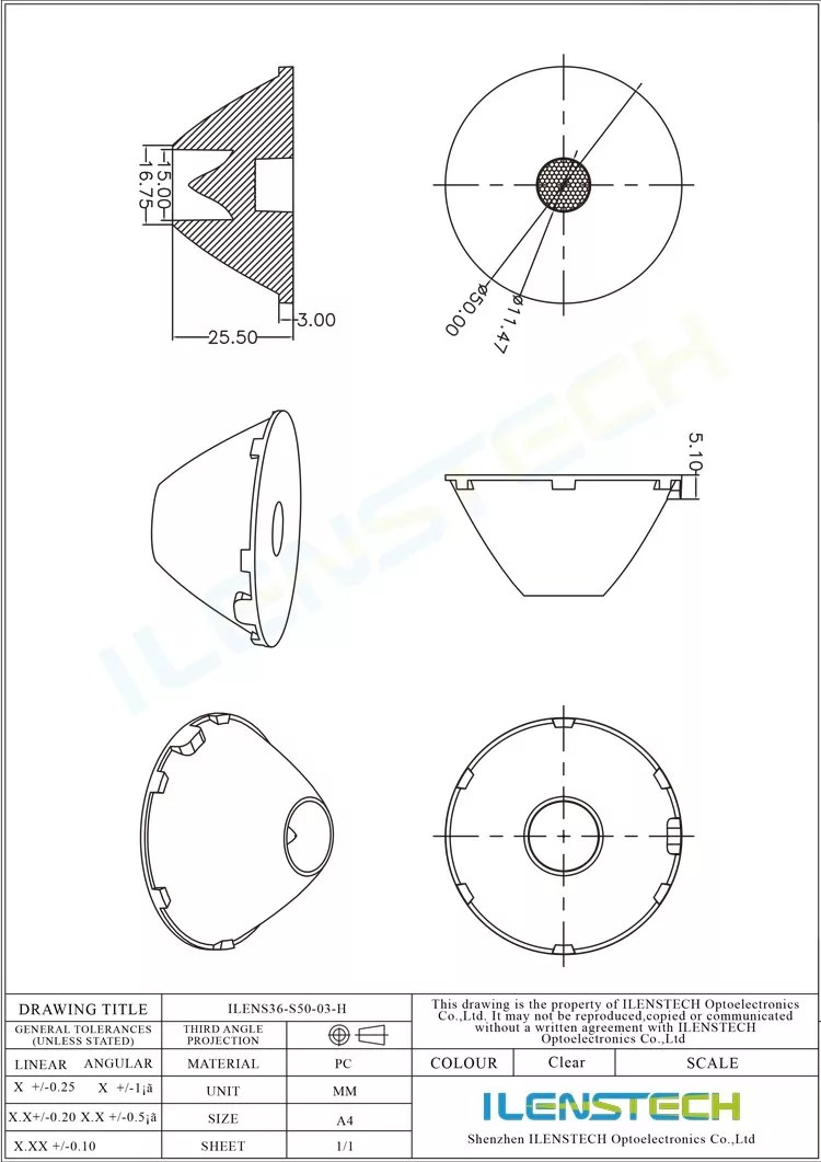hight resolution of wall washer narrow beam angle 3 degree large fresnel lens 50mm led spot light with lens