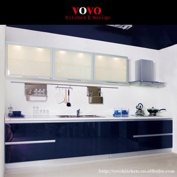 one handle kitchen faucet ninja system cabinet modern upper glass door bottom glossy ...