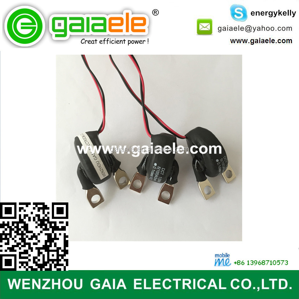 hight resolution of gaia anti direct current dc bar type ct current transformer for electronic watt hour meter 100a