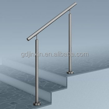 Stainless Steel Stair Step Safety Exterior Handrail Designs Safety | Safety Handrails For Outdoor Steps | Railing Kits | Simplified Building | Wrought Iron | Wood | Metal