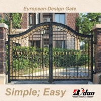 Boundary Wall Gate Design Iron Exterior Doors Oydm-20 ...