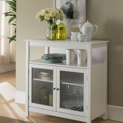 Kitchen Entry Doors Craftsman Hardware Cheap Find Deals On Line At Get Quotations Kings Brand Furniture White Finish Wood Storage Buffet Cabinet With Glass