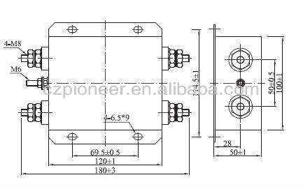 Pe5100 80/250vdc 140a Dc Filter With Smart Meter Emi