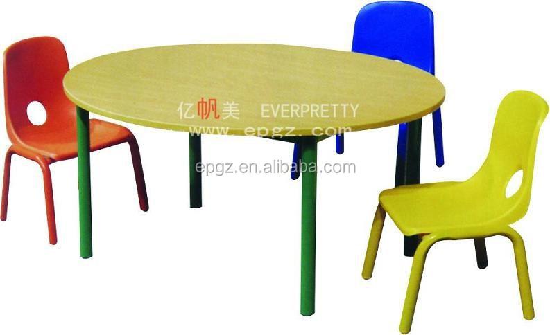 Madera de guardera para nios dibujo mesa redonda y