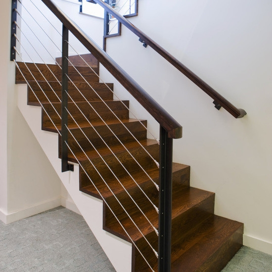 China Industrial Safety Railing Wholesale Alibaba | Tension Wire Stair Railing | Stainless Steel | Simple | Aluminum Commercial | Residential | Wire Balustrade