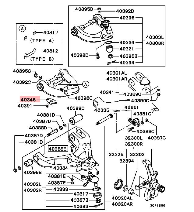 Suspensión Delantera Brazo Bump Tapón Para Mitsubishi L200