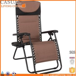 Padded Zero Gravity Chair 2 And Table Set Cheap Folding Deck Chairs With Head Pillow Cupholder