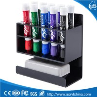 2-tier Black Acrylic Dry Erase Whiteboard Marker And ...