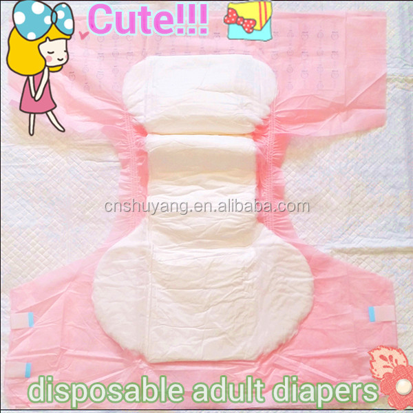 Super Absorbent Disposable Cute Adult Baby Style Diapers