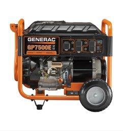get quotations generac 5978 gp7500e 7500 running watts 9375 starting watts electric start gas powered portable generator [ 1200 x 1200 Pixel ]