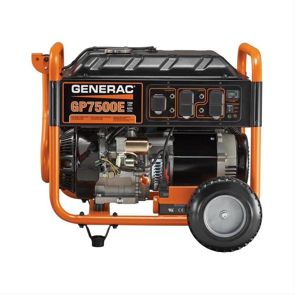 medium resolution of get quotations generac 5978 gp7500e 7500 running watts 9375 starting watts electric start gas powered portable generator