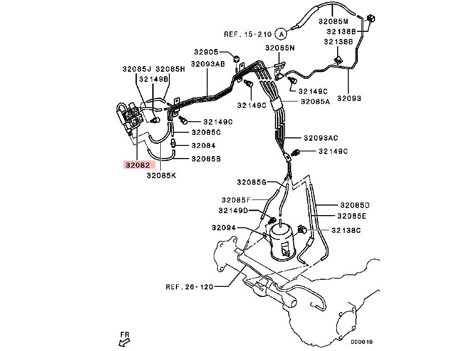 Freewheel Clutch Control Solenoid Valve For Mitsubishi