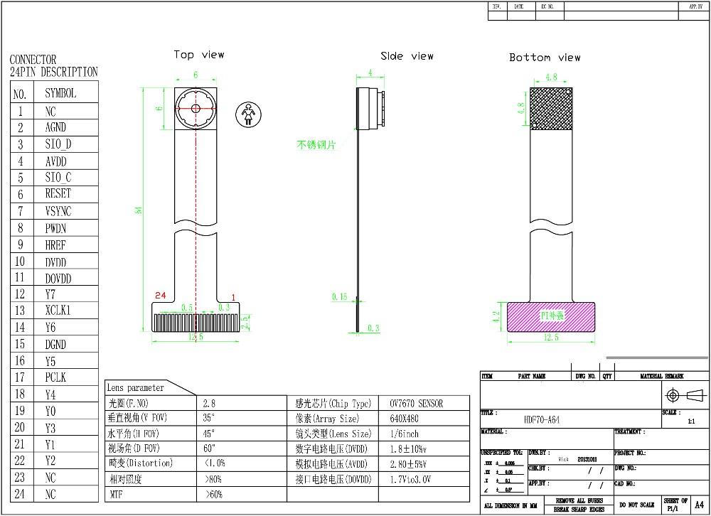 Best Price Cmos Camera Ov7670 Omnivision Camera Sensor