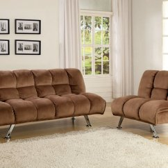 Futon And Chair Set Gaming Office Cheap Single Bed Find Deals On Get Quotations 2 Pc Marbelle Contemporary Style Mocha Champion Fabric Seat Sofa
