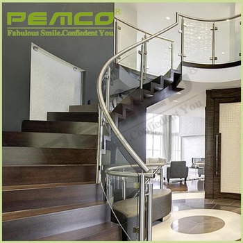 Modern Design Model Railing Removable Clear Tempered Glass Stair   Clear Handrails For Stairs   Steel   Clear Acrylic   Wood   Riser   Metal